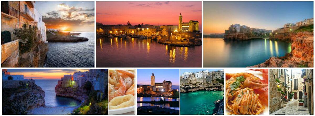 Collage Puglia Italia